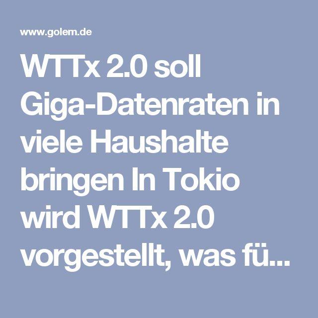 WTTx 2.0 soll Giga-Datenraten in viele Haushalte bringen  In Tokio wird WTTx 2.0 vorgestellt, was für Wireless Fiber To The X in neuer Form steht. In Verbindung mit 4.5, 5G oder anderer Funktechnik könnten damit Haushalte günstig mit Gigabit versorgt werden.  Huawei will die letzten Meter zum Kunden auch mit Mobilfunk überwinden. Mit WTTx 2.0 seien Anbindungen bis zu 1 GBit/s bereits über LTE möglich, sagte Yuafeng Zhou, Chief Marketing Officer Huawei Wireless Network Product Line, am 25…
