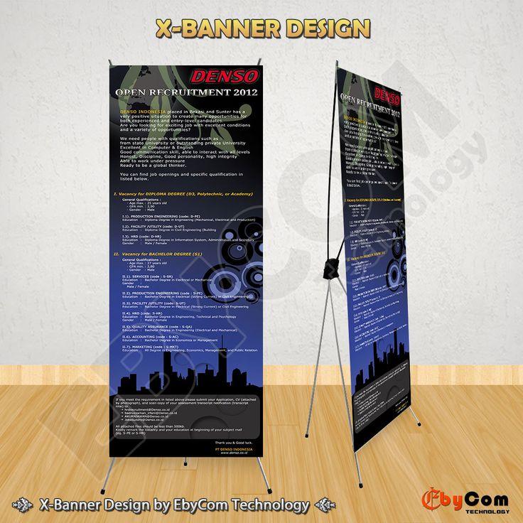 Desain X-Banner Open Recruitment PT Denso Indonesia