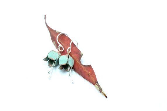 Botanical Earrings Tulip Earrings Botanical Jewelry Silver