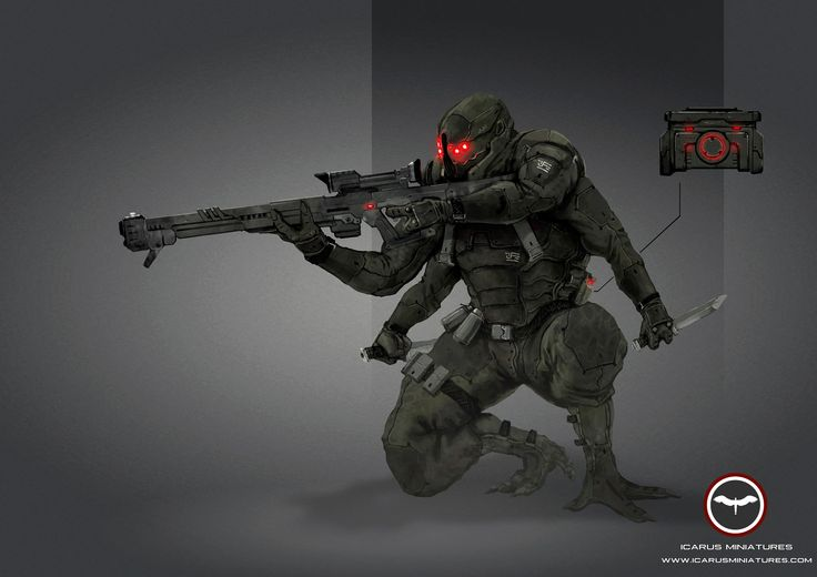 Nexus Assassin  Learn More: http://icarusminiatures.com/concept-art-preview-nexus-assassin/