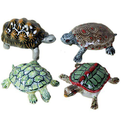 "черепаха фарфор миниатюра / 4 Turtles Miniature Ceramic Statue Figurine (2"") Bestminiature http://www.amazon.com/dp/B00UET5UNO/ref=cm_sw_r_pi_dp_KGbSwb1RKE74F"