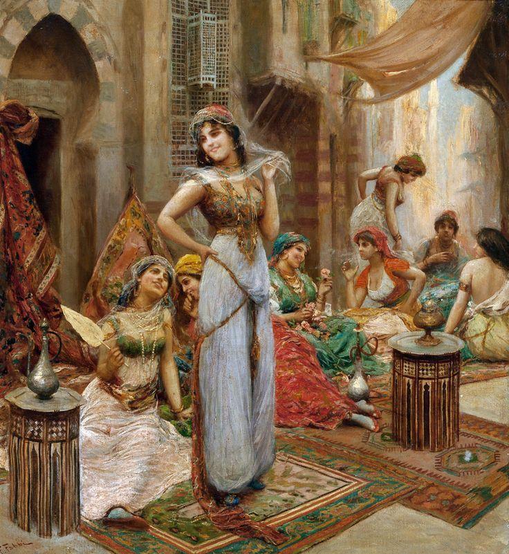 Orientalist Painting, Orientalist Art, Oil On Canvas, 1910 Harem, Fine Art Paintings, 1910 Heritage