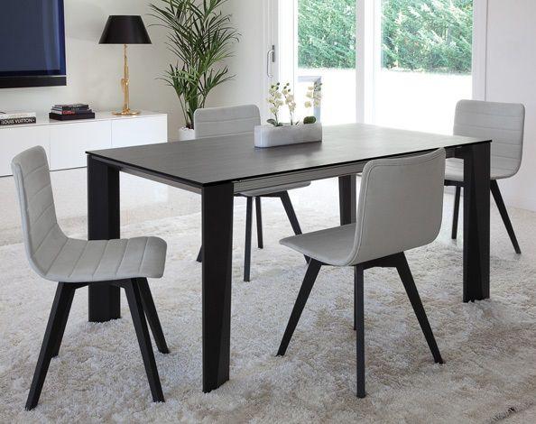 Flexa/LX Dining Chair in Light Grey Wool by DomItalia Furniture