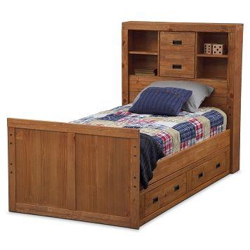Alpine Bookcase Kids Furniture Twin Bed W/ Storage   Value City Furniture