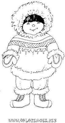 Les 17 meilleures images du tableau coloriages esquimaux - Esquimau dessin ...