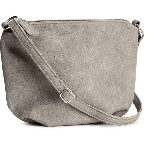 H&M Small shoulder bag ($7.84) ❤ liked on Polyvore featuring bags, handbags, shoulder bags, grey, h&m, purses, grey handbags, gray handbags, zipper purse and h&m handbags