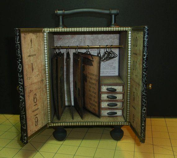 Altered Cigar Box: ATC Holder
