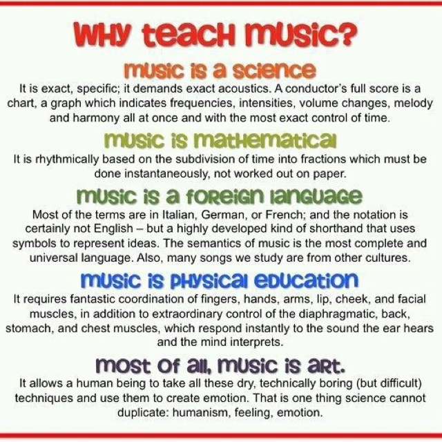 Why Teach Music - Musical Instrument