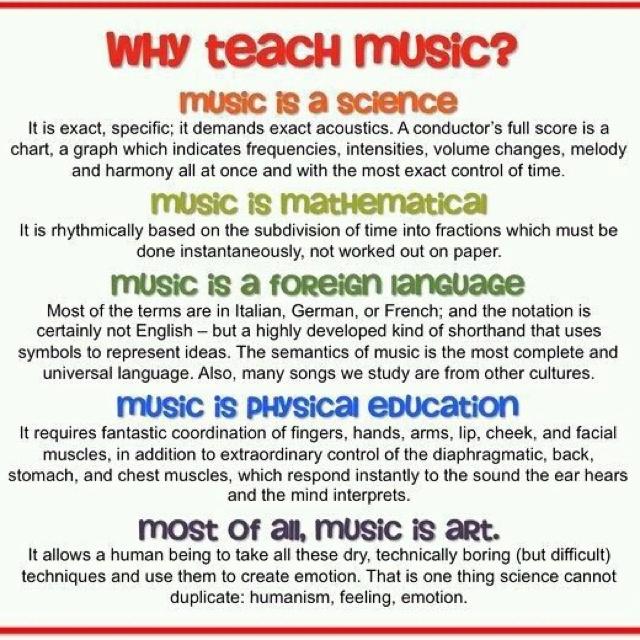 Why Teach Music - Musical Instrument