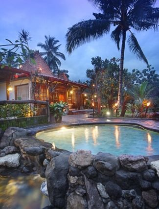 We have a pool which is very exotic. Well outside lights ambience combined and coconut palm trees. Detail info: 0813 1072 0446