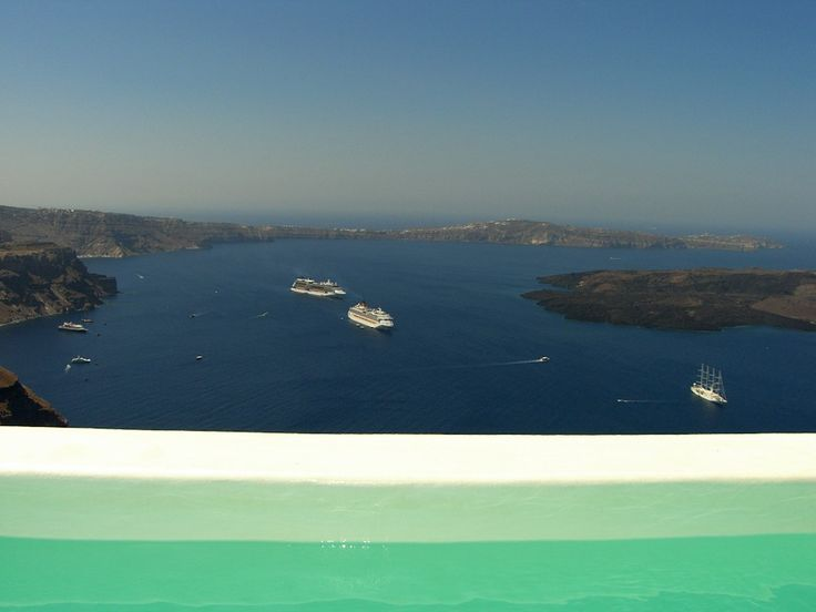 Endless View from your private pool at Alexander Villas in Santorini