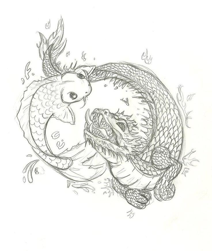 Best 20 koi dragon tattoo ideas on pinterest dragon koi for Japanese koi dragon