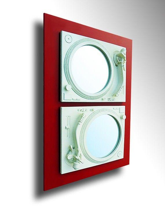 2Seduce  Technics Turntable Inspired Mirror Sculpture  by SkuStyle