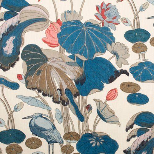 Lee Jofa NYMPHEUS PRINT TEAL Fabric