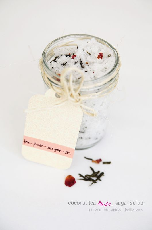 DIY Coconut Tea Rose SugarScrub