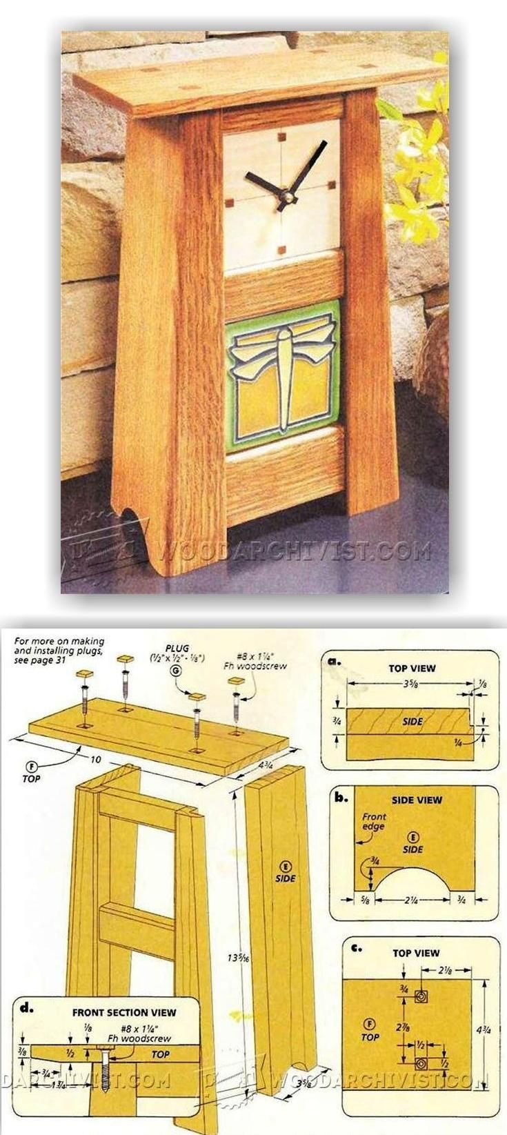 Craftsman Clock - Woodworking Plans and Projects   WoodArchivist.com