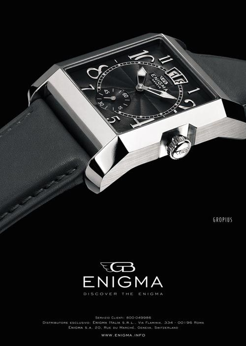 DISCOVER THE ENIGMA   Client ENIGMA by Gianni Bulgari