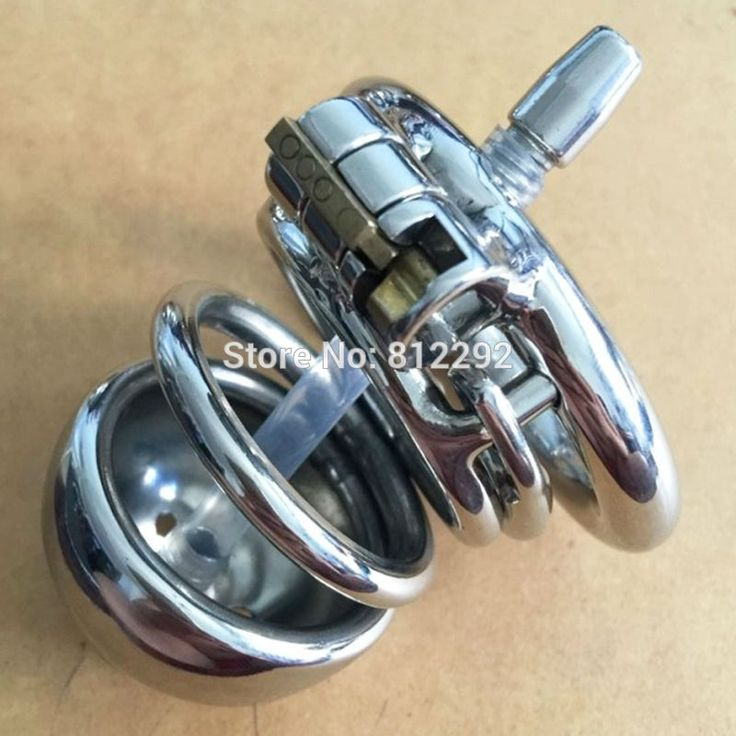 19.80$  Buy here - Male Chastity Device with catheter stainless steel Metal catheter  urethral Penis Ring chastity belt Sex Toys  #buymethat