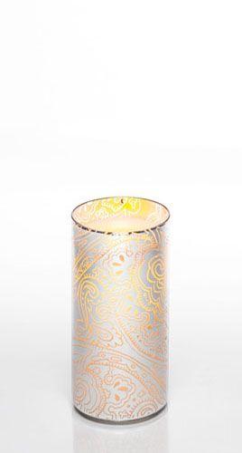"7"" Indochine Glass Luminary w/ Programmable Timer"