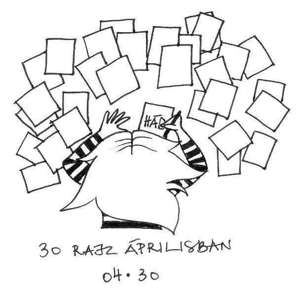 30 rajz áprilisban - 30 drawings in April