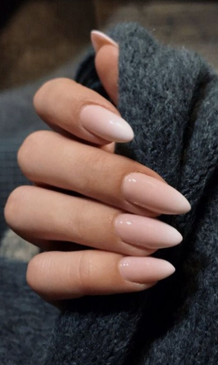 baby pink and white ombre nails   pointy nail art ideas   kylie jenner nails