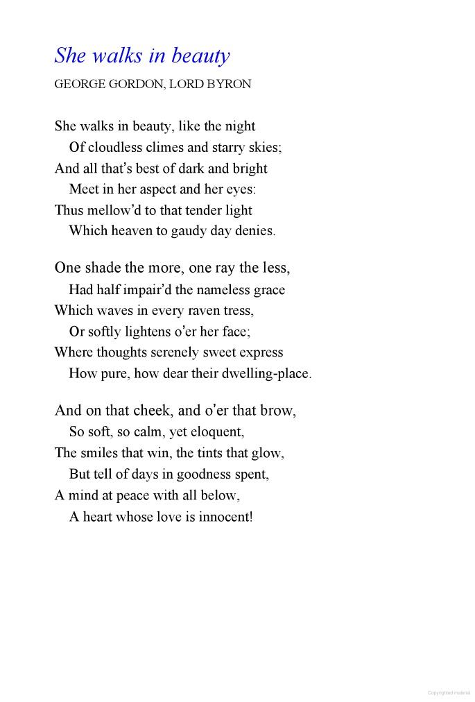 She Walks in Beauty: A Woman's Journey Through Poems - Caroline Kennedy - Google Books