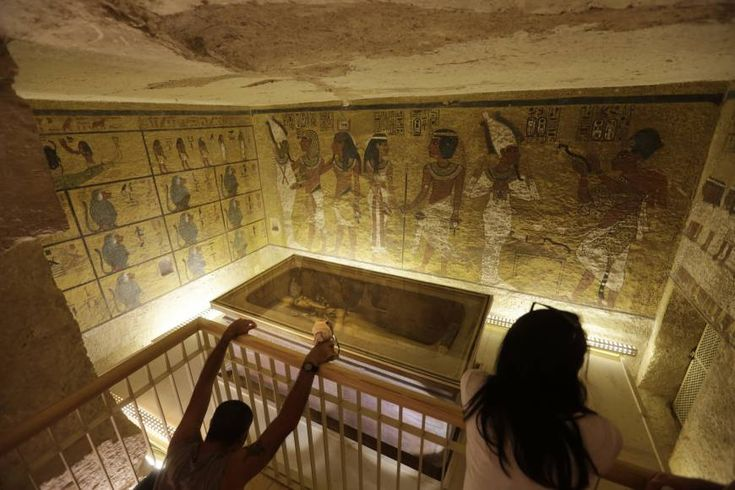 Scans of King Tut's burial chamber have revealed two hidden rooms, Egypt's antiquities minister said Thursday, intensifying speculation that the chambers c