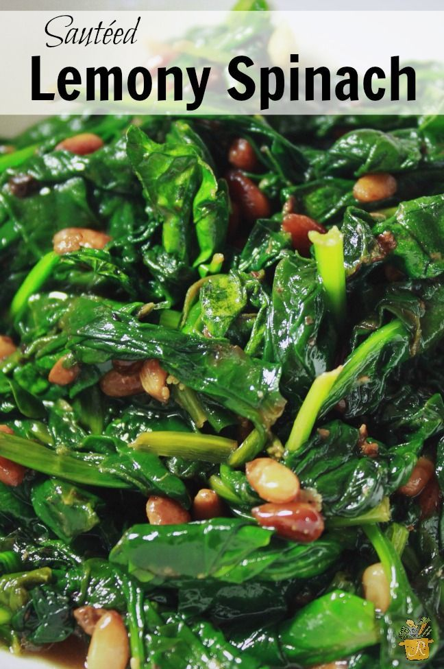 Lemon Saut 233 Ed Spinach Recipe Spinach Recipes
