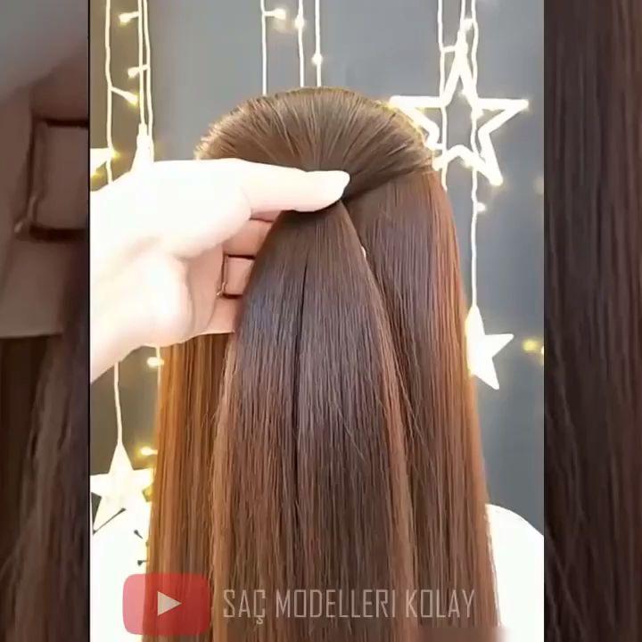 lange geflochtene Frisur