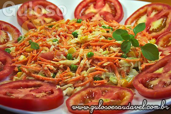 Salada de Repolho e Cenoura » Receitas Saudáveis, Saladas » Guloso e Saudável