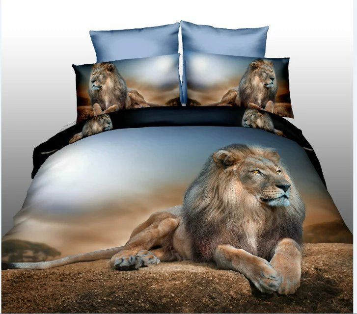 3D Animal  Bedding Sets Classic Queen Size Cheap Bed Linen 3D Bedsheets Double Duvet Cover Sets For Bedroom(00243)