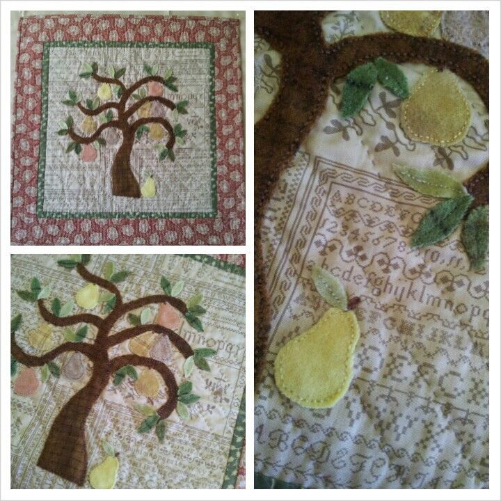 Pear tree by Max and Louise pattern co