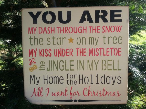 YOU ARE My Dash Through The Snow, Hand Painted Prim Sign, Christmas Decor, Holiday Housewares