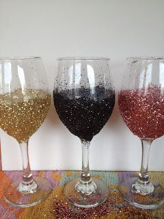 My mom & dad are huge wine fanatics! Me, being a huge craft fanatic, decided to give a few of their wine glasses a makeover. It's easier tha...