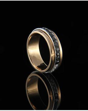 Δαχτυλίδι ροζ χρυσό Κ18 με Διαμάντια