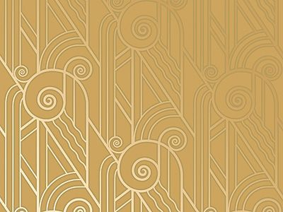 Bradbury Art Deco Designs Volute Retro Wallpaper In Old