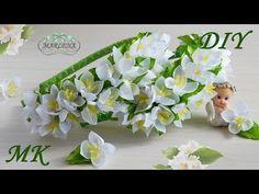 Жасмин канзаши мастер класс . Ободок с цветами жасмина  МК/DIY - YouTube