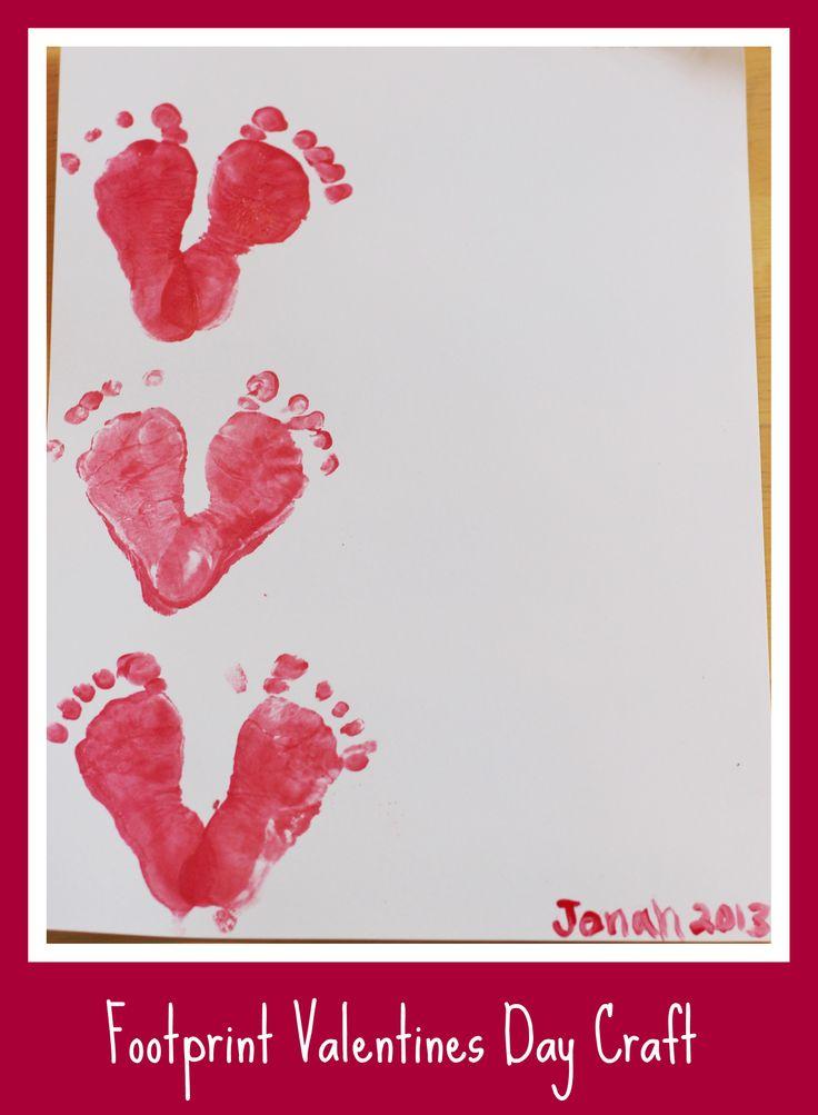 Footprint Baby Valentines Craft