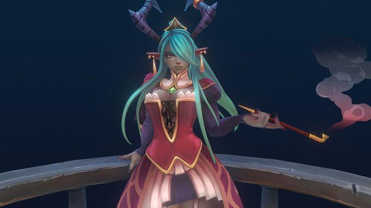 Demon Lady -  Elynvia by mafubash
