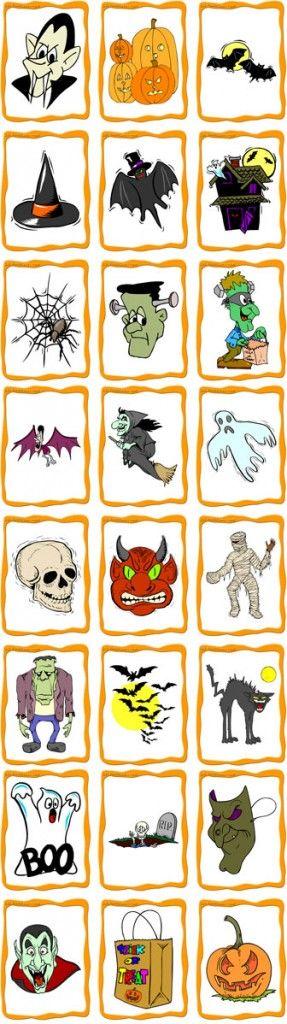 Printable Halloween Flashcards Set