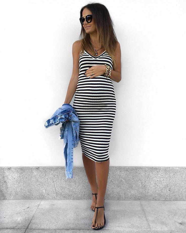 "3,003 curtidas, 64 comentários - T H A I S E DE M A R I ™ (@thaisedemari) no Instagram: ""Eu & Ela ✔️ look all @itstoreonline #ootd #outfit #itstoreonline #pregnant #baby #24weeks #Carmel"""