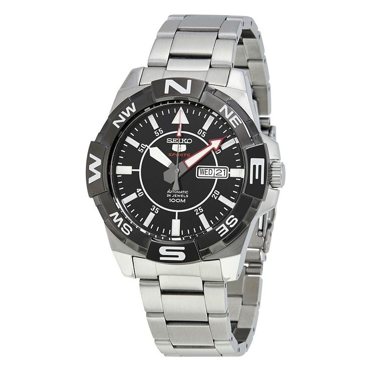 Seiko 5 Automatic Black Dial Stainless Steel Men's Watch SRPA65 - Seiko 5 - Seiko - Watches - Jomashop