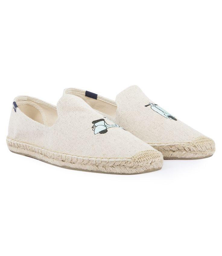 SOLUDOS SCOOTER EMBROIDERED SMOKING SLIPPER ESPADRILLE