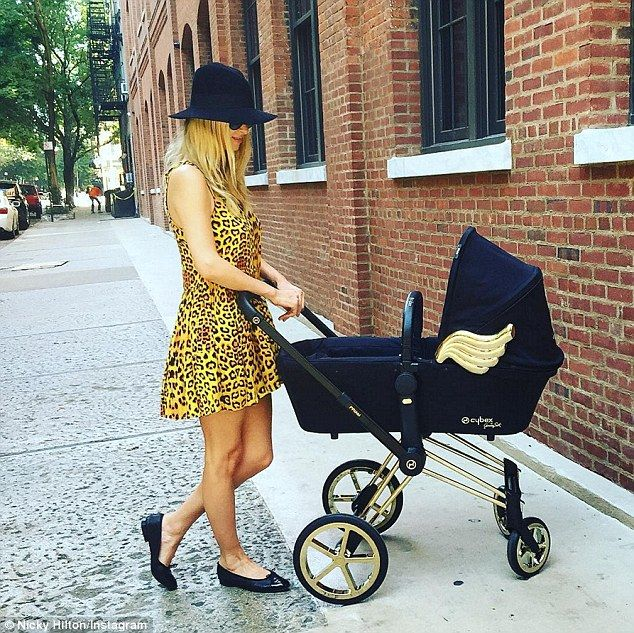 Rolling in style: Back on July 26, Nicky showed off her little princess' new…