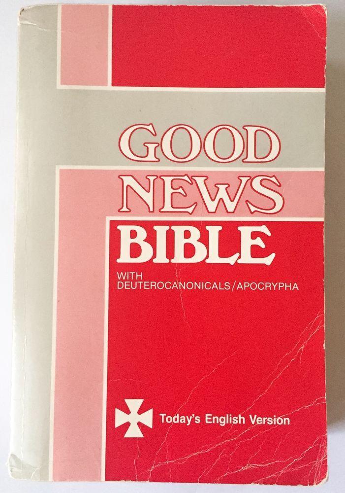 Vtg Good News Bible PB Book Deuterocanonicals Apocrypha Today's English Version