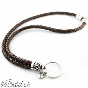 Schlüsselanhänger XL Luxus aus Leder und 925 Sterling Silber Schmuck Schweiz Geschenkidee _ Shop Schmuck online Kaufen