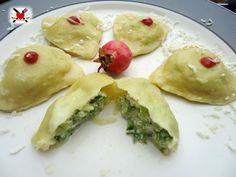 Cuor di ravioli con ripieno delicato di zucchine speck e ricotta