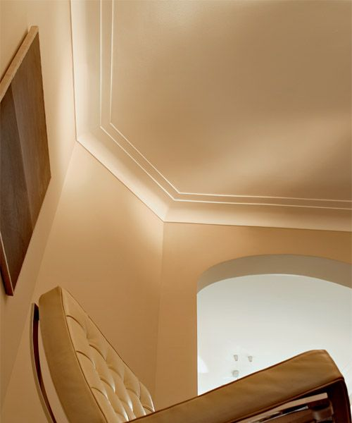 crown molding styles | Miami Art Deco style crown molding featured with in combination with ...