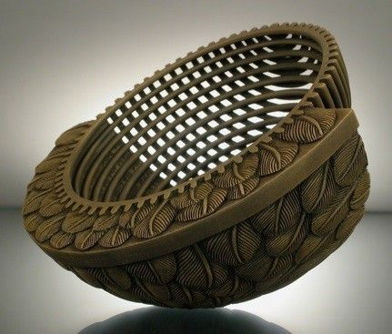 """Wood sculpture, """"Modern 3,"""" by Jacques Vesery"""
