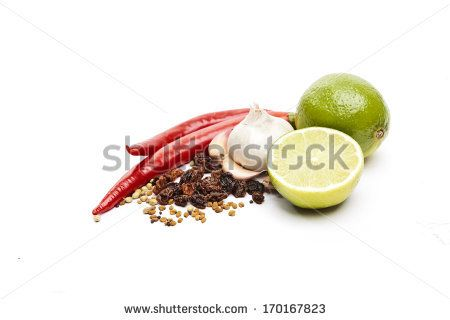 Set of components for Indian pickles by SirChopin, via Shutterstock